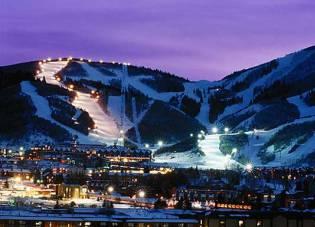 Esquiar cerca de la ciudad