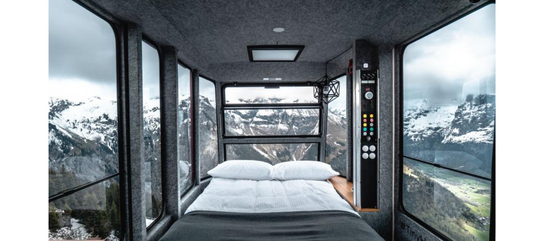 Si quieres pasar la noche en una telecabina a 1.800 metros de altitud, Suiza lo hace posible