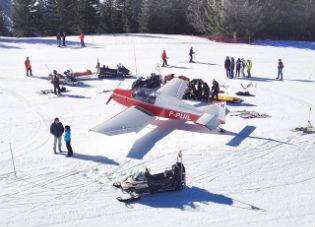 Un esquiador herido al caer una avioneta en Avoriaz
