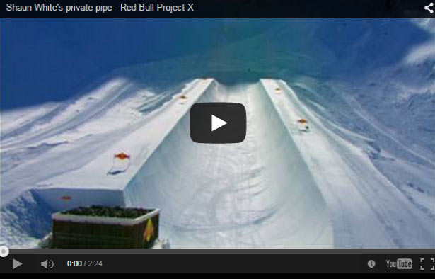 El half pipe privado de Shaun White