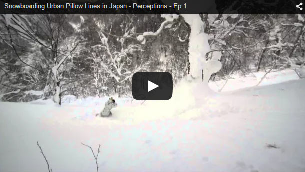 Snowboarding in Japan, no limits.