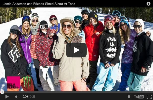Jamie Anderson and Friends Shred Sierra At Tahoe