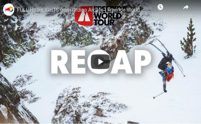 Full Highlights Freeride World Tour 2020 Ordino Arcalís